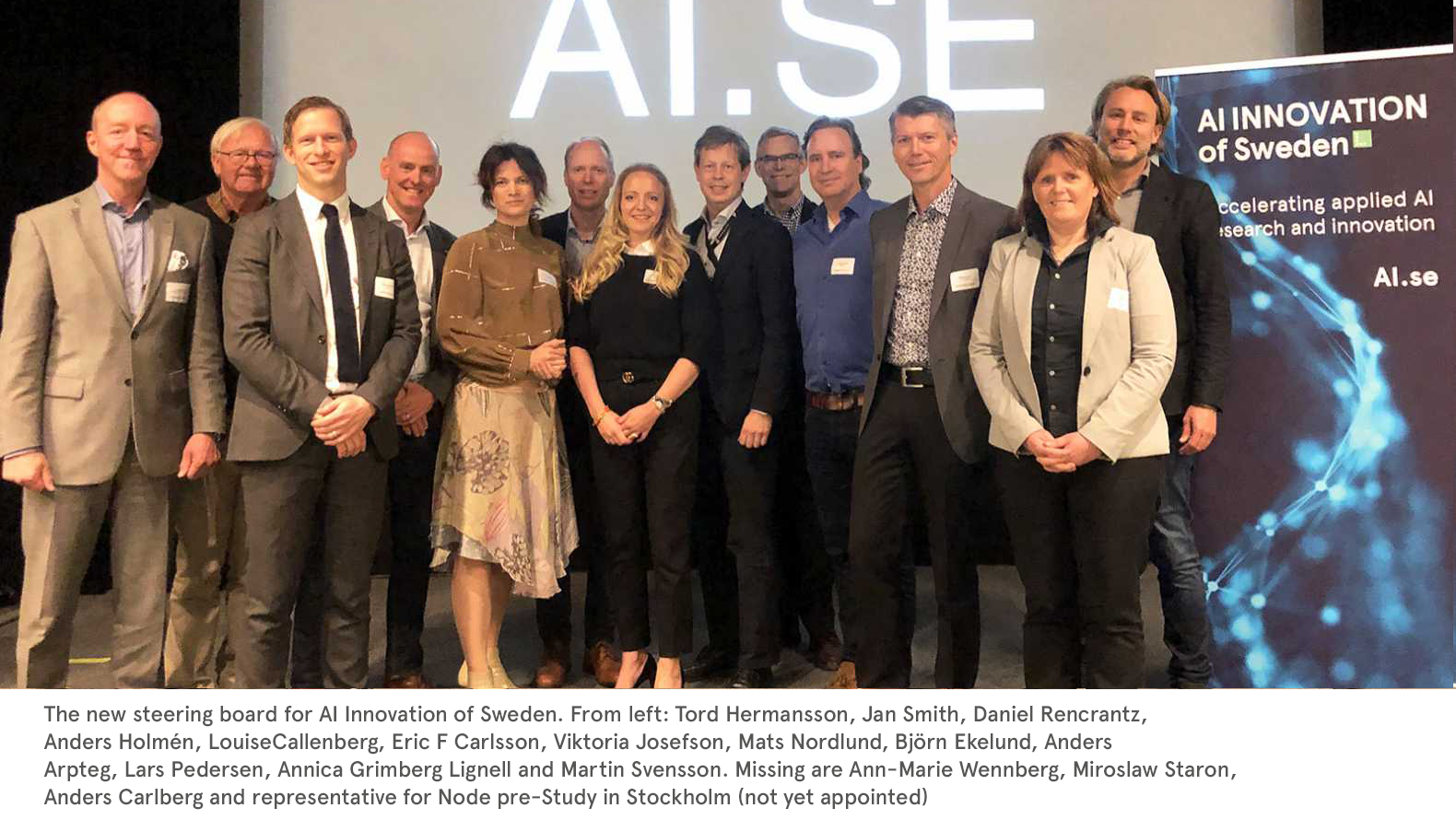 new board of Ai innovation of Sweden